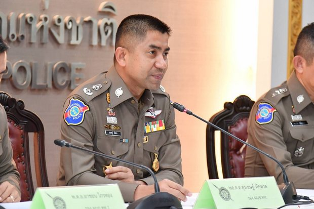 The anti-illegal 'Operation X-Ray Outlaw Foreigner' under deputy Tourist Police Bureau chief Surachate 'Big Joke' Hakparn is investigating the fake-marriage operation. (Photo via Tourist Police)