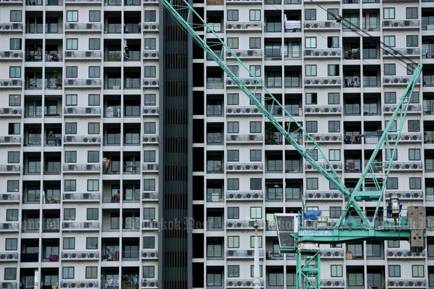 The Thai Real Estate Association says developers have adjusted after 'oversupplying some areas' with condos that have caused delays in new projects. (Photo by Patipat Janthong)