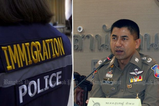 Pol Maj Gen Surachate 'Big Joke' Hakparn was approved Thursday to become the next chief of the Immigration Bureau, with an automatic promotion to the three-star rank of lieutenant-general. (File photos)