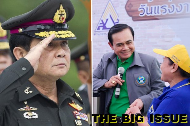 In less than five years, army lifer Prayut Chan-o-cha transformed himself from the general who denied there ever would be a military coup into the smooth-shmoozing politician who might be premier for life. (Bangkok Post file photos)