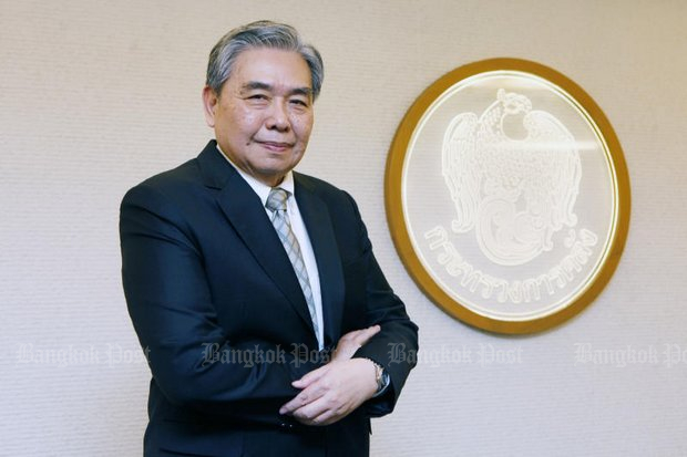 Apisak Tantivorawong, the Minister of Finance, believes that a rate hike at the moment makes little sense. (Photo by Pornprom Satrabhaya)