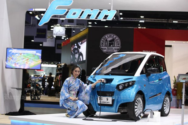 The FOMM One will be the first all-electric (non-hybrid) car officially approved for sale. (Photo by Phrakrit Juntawong)