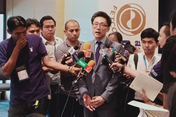 Paiboon Nalinthrangkurn, chairman of Fetco (Federation of Thai Capital Market Organizations), says an exit strategy is being prepared to cushion possible panic selling. (Photo provided)