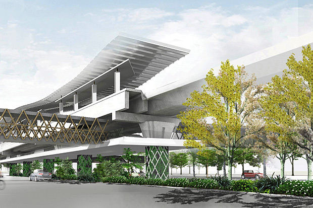 Building for the future: The tram project, if approved, will take two years to complete, and cost 15 billion baht to build.