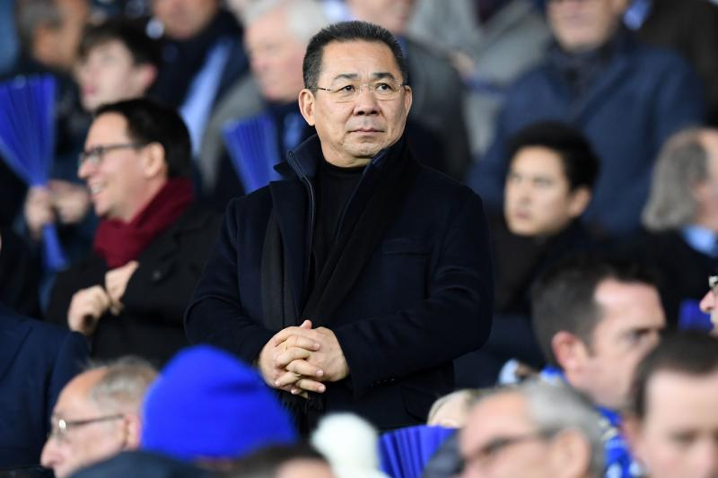 Chairman Vichai Srivaddhanaprabha watches during the Uefa Champions League group G football match between Leicester City and Club Brugge at the King Power Stadium in Leicester on Nov 22, 2016. (AFP photo)