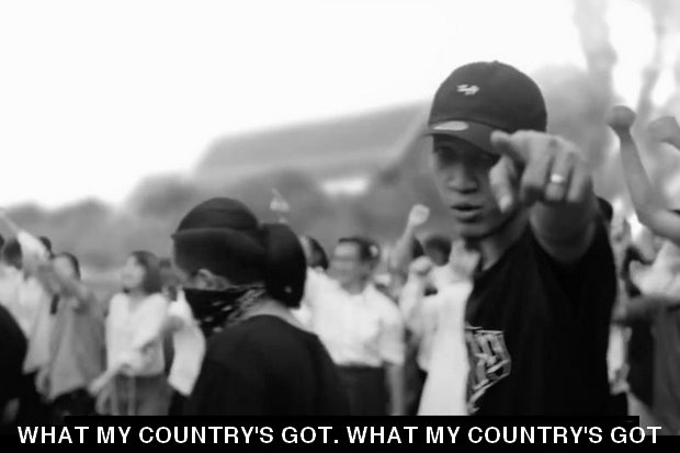 Rap Against Dictatorship's Prathet Ku Mee ('What My Country's Got) is a 5-minute, fire-breathing track that disses all that's wrong with the country right now. (Screen cap YouTube/Rap Against Dictatorship)