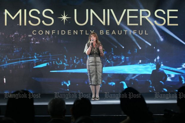 Paula M Shugart, president of Miss Universe Organisation, briefed the media on preparations for the Miss Universe broadcast from the Bangkok Art and Culture Centre on Monday, Dec 17, beginning at 7am.