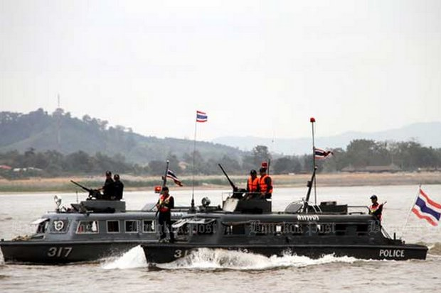 The bust was made by the Mekong Riverine Unit, a joint task force that operates on and near the river, on the Thailand side. (File photo)