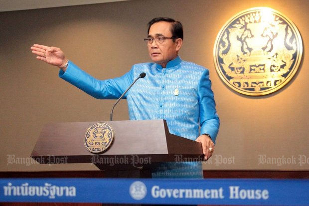 Prime Minister Prayut Chan-o-cha said the new rule requiring senior academics to list their assets for the National Anti-Corruption Commission (NACC) was the hot topic at Tuesday's cabinet meeting. (Post Today photo)