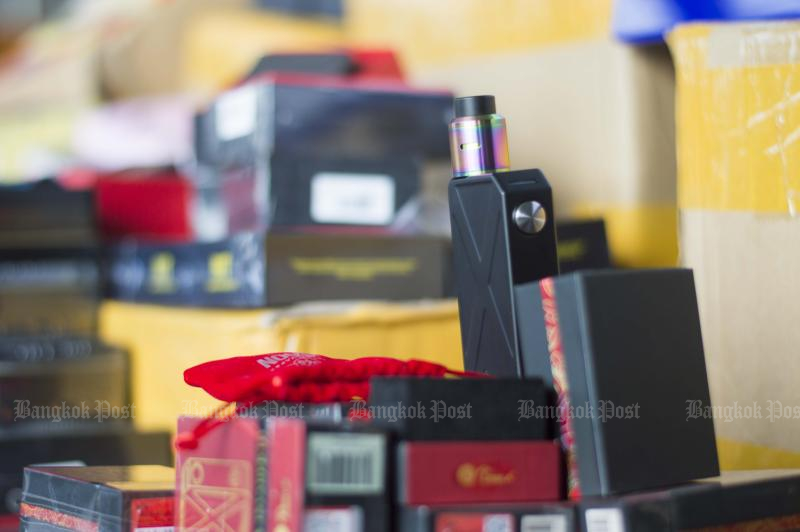 Possession of e-cigarettes for use or sale will be fined by the Excise Department. (Photo by Worrapon Payakum)