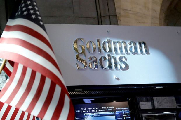 A view of the Goldman Sachs stall on the floor of the New York Stock Exchange in New York on July 16, 2013. (Reuters photo)