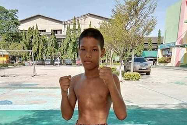 Boxer Phetmongkol Por Peenapat, aged 13 years, who died after he was knocked out in the ring on Monday night. (Photo from มวยไทย ครบวงจร Facebook account)