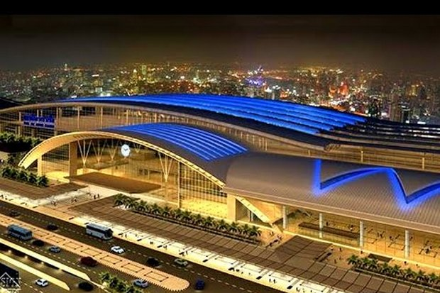 The Bang Sue Grand Station, seen here in an architect's drawing, is on track to replace Hua Lamphong as the rail transport hub by January, 2021.