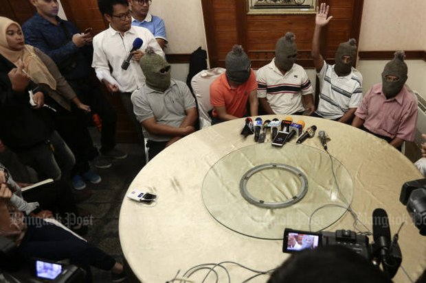 Defecting members of the Barisan Revolusi Nasional (BRN) separatists spoke to Thai media in February but leaders of the shadowy, Malaysia-based group have turned down three invitations to join peace talks. (Photo by Patipat Janthong)