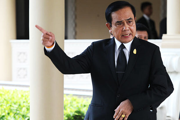 Prime Minister Prayut Chan-o-cha on Friday hit back at politicians who have complained about the fairness of the redrawn electoral map. (Bangkok Post file photo)