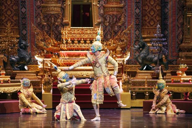 The Support Foundation staged a performance of the classic khon dance episode, 'The Allegiance of Phiphek' earlier this month. (Photo provided)