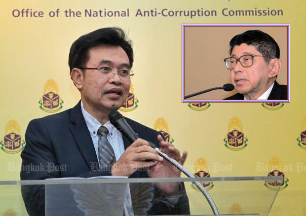 Government legal expert Deputy Prime Minister Wissanu Krea-ngam (inset) has met with secretary-general Worawit Sukboon and officials of the 'independent' National Anti-Corruption Commission (NACC) over the issue of asset declarations. (File photos)