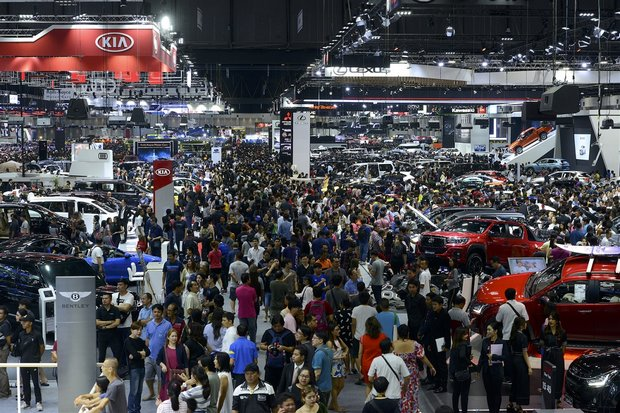 The 35th Thailand International Motor Expo at Impact Muang Thong ended on Monday, rated another success in the number of attendees as well as sales of four- and two-wheel vehicles. (Photo courtesy Motor Expo)