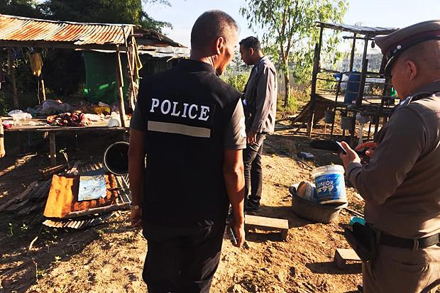 Crime scene of the brutal murder in Tak. (Photo by Rungweeraya Pinitwong)