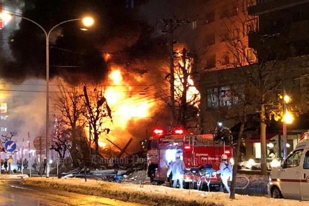 More than 40 injured in explosion in Japan's Sapporo