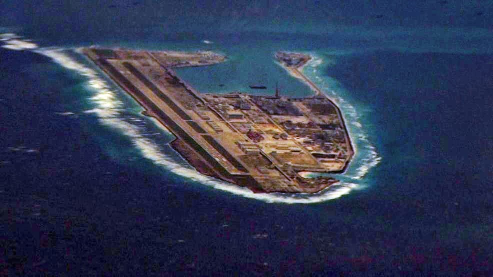 Fiery Cross Reef was transformed into an operational military base after 2013.