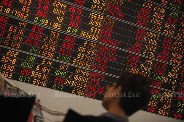 SET down 16.44 points to 1,585.04 at midday
