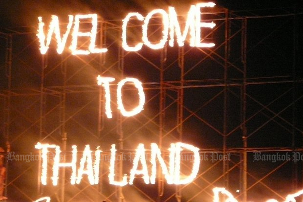 The Full Moon Party dramatically welcomes (mostly) young tourists to Koh Phangan. (File photo)