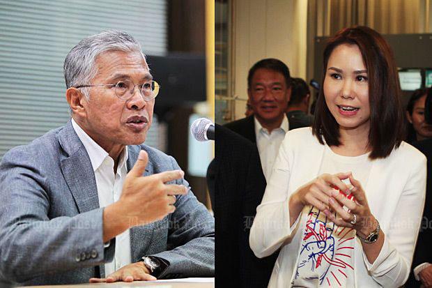 Watana Muangsook, left, and Nuttaa Mahattana. (file photos)