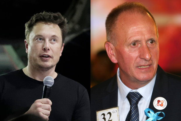 SpaceX founder and CEO Elon Musk (left) and British cave expert Vernon Unsworth. Mr Musk is asking a California judge to throw out a lawsuit filed against him by Mr Unsworth, arguing 'the public knew from the outset that Musk's insults were not intended to be statements of fact'. (AP Photos)