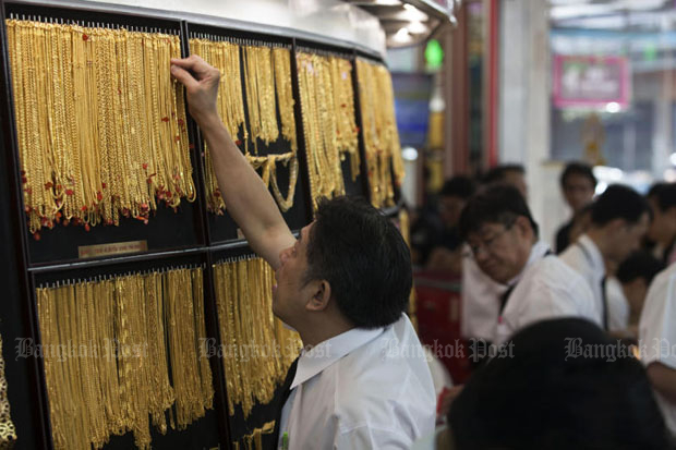 Gold prices fell B50 to B19,700