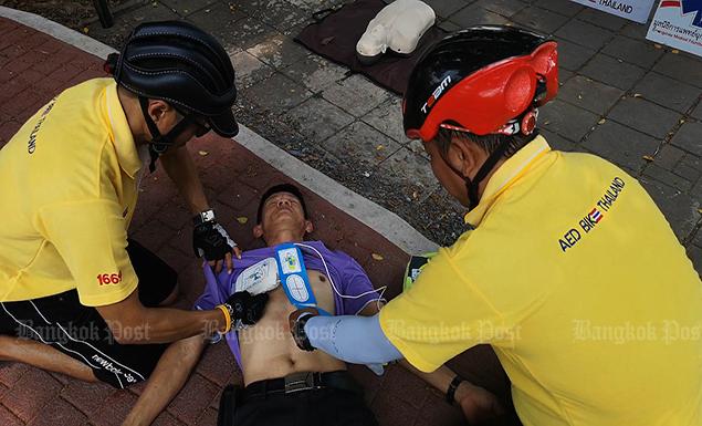 Life-saving cyclists