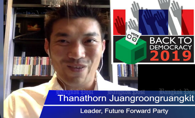 Thanathorn says Thaksin 'should face new trial under neutral judge'