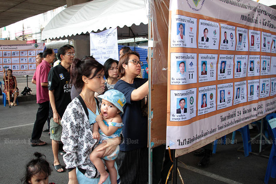 Atmosphere during Thailand's March 24th election day.