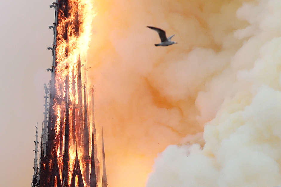 Fire guts Notre-Dame Cathedral