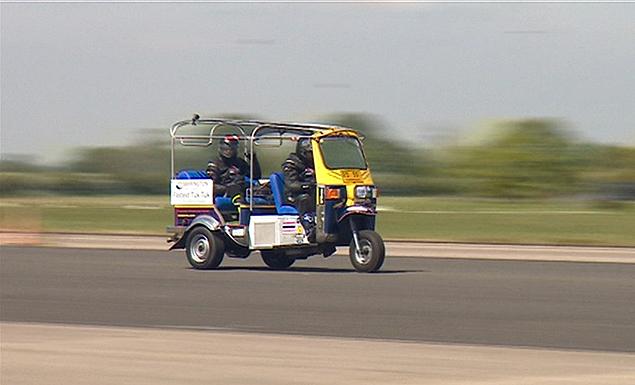British petrolhead sets land speed record for tuk-tuk