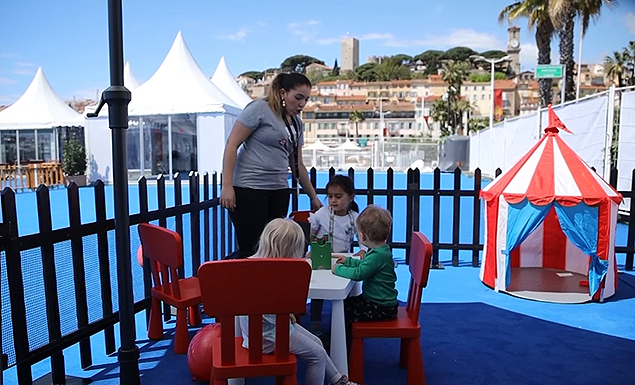 Cannes Film Fest swaps champagne for childcare
