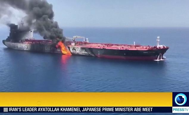 Two oil tankers struck in Gulf of Oman