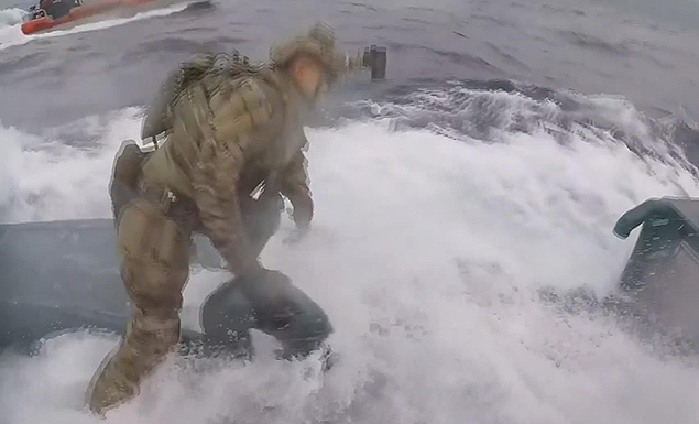 Coast Guard busts alleged drug sub at sea: video