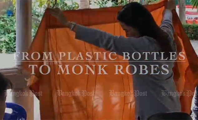 From humble plastic bottles to highly desirable monks' robes