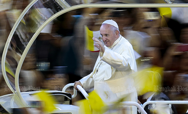 Pope Francis wins hearts of all peole in Thailand during his visit to the kingdom from Nov 20-23.
