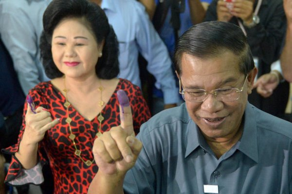 Cambodian strongman and Prime Minister Hun Sen. While Cambodia still claims to adhere to the policy of 'permanent neutrality and non-alignment', its actions speak louder than words. (File photo)