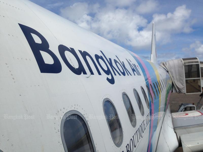 Bangkok Airways has cancelled all flights to and from Samui airport this Friday as storm Pabuk moves in. (Bangkok Post file photo)