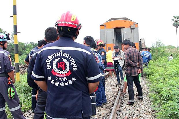 Man killed driving through railway barrier