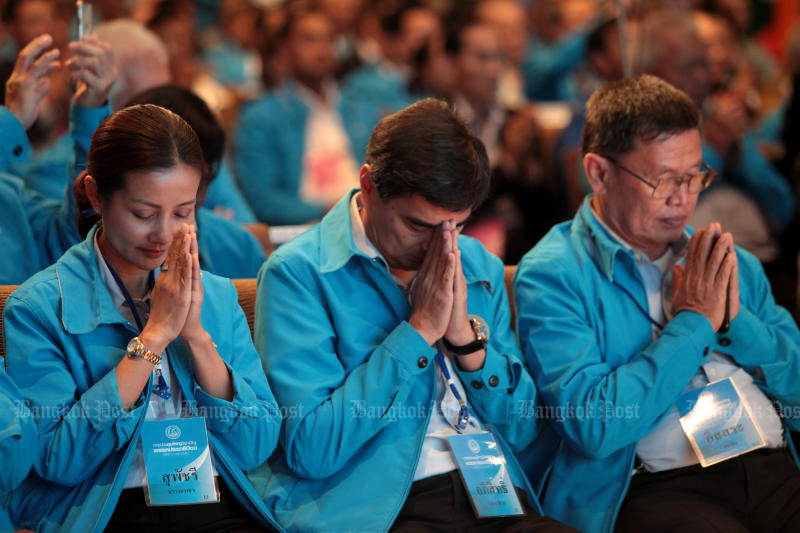 The Democrat Party has approved the nomination of candidates for the House in almost every constituency. (Bangkok Post file photo)
