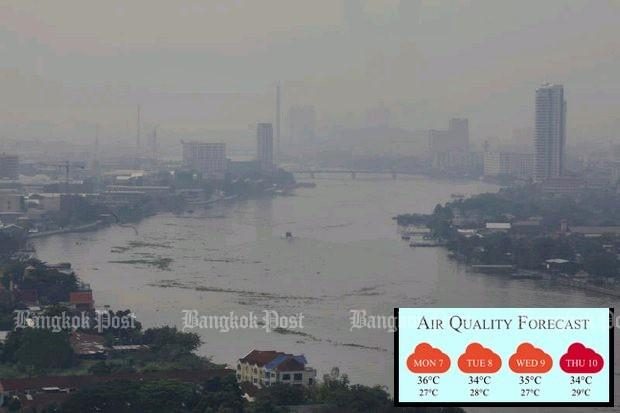 Haze returns to city as long holiday ends