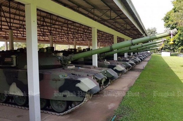 The first shipment of 28 VT-4 main battle tanks from China arrived in Thailand in October of 2017. (File photo)