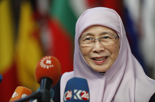 Iceland has a curfew system that Malaysia could emulate, says Deputy Prime Minister Wan Azizah Wan Ismail. (AP Photo)