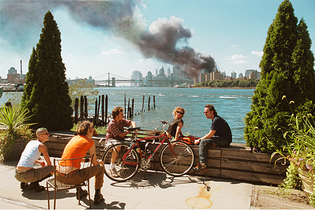 Thomas Hoepker's iconic image of the World Trade Center terror attacks, shot from Brooklyn, New York, on Sept 11, 2001. Photo: Thomas Hoepker