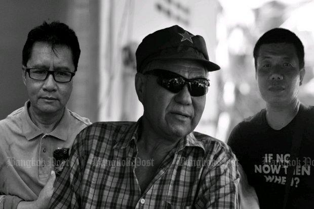Lese majeste fugitive Surachai Sae Dan (centre) is feared to have been murdered along with two other men whose bodies were washed up from the Mekong River on Dec 29. (Graphic courtesy Prachatai.com)