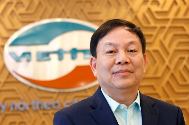 Viettel president and chief executive officer Le Dang Dung says the company has earmarked US$40 million for the development of its own 5G chipset. (Reuters photo)